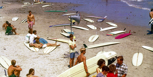 Surfboards on the beach Texas  p. 73 The History Of Surfing